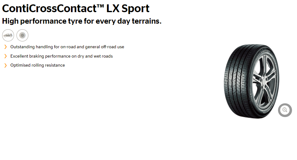 Summer Tyre CONTINENTAL CrossContact LXSport 225/60R17 H