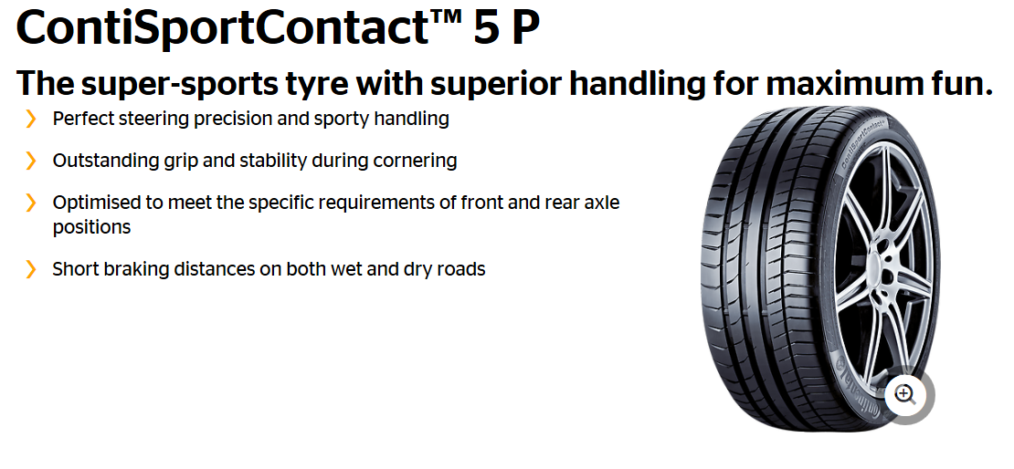 Summer Tyre CONTINENTAL SportContact 5P 285/30R21 100 Y