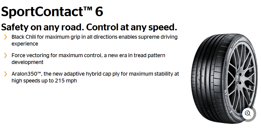 Summer Tyre CONTINENTAL SportContact 6 265/30R22 97 Y
