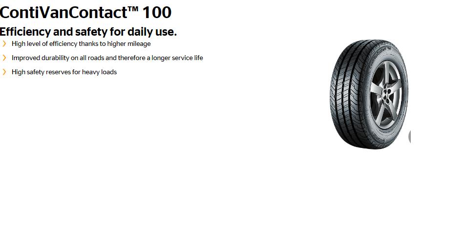 Continental VanContact 100
