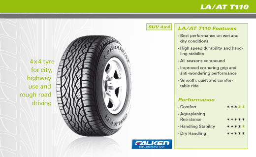 Summer Tyre FALKEN LA/AT110 245/70R16 107 H