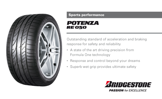 Summer Tyre BRIDGESTONE Potenza RE050A 255/40R17 94 Y