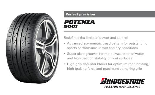 Summer Tyre BRIDGESTONE Potenza S001 245/45R17 95 W